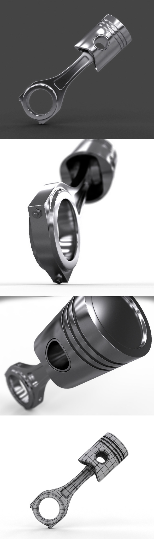 Realistic Piston With Material