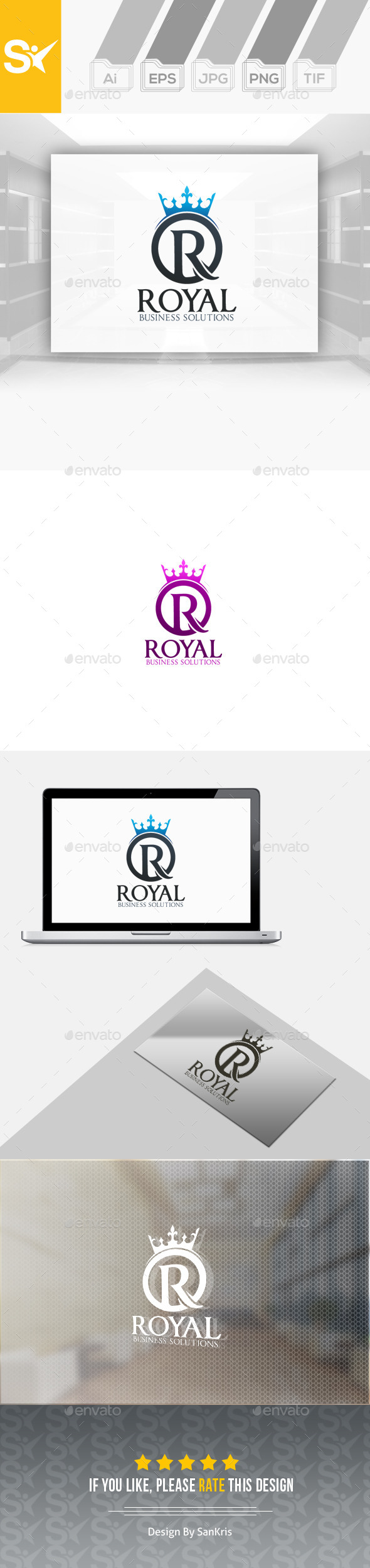 Royal Logo Template - Letters Logo Templates
