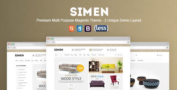 SNS Simen – Responsive Magento Theme