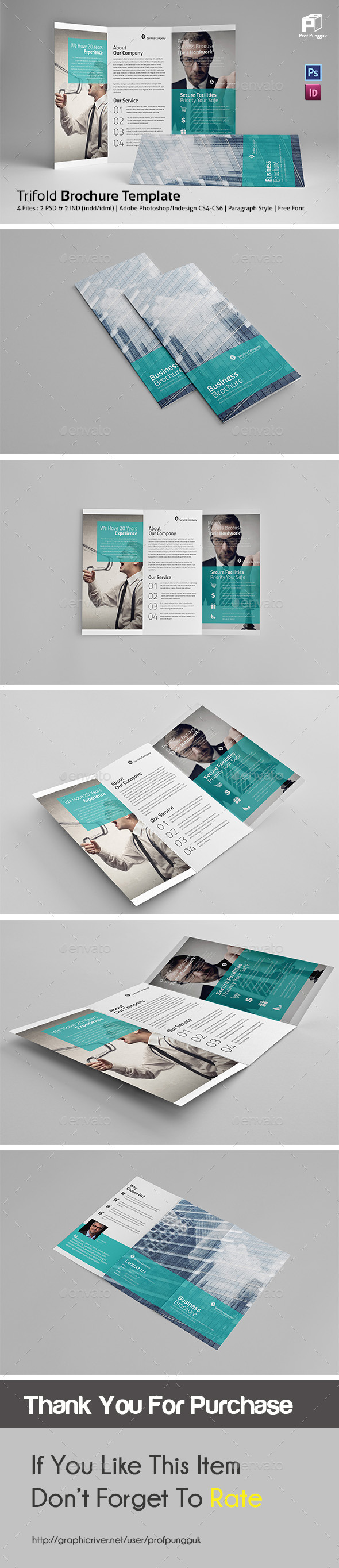 Business Trifold Vol.6 - Corporate Brochures
