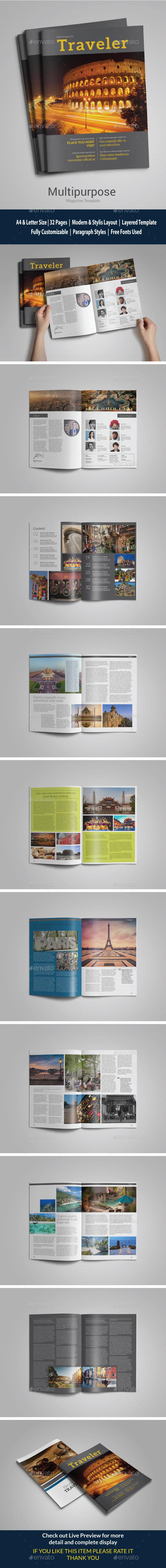 Indesign Travel Magazine vol 1  - Magazines Print Templates