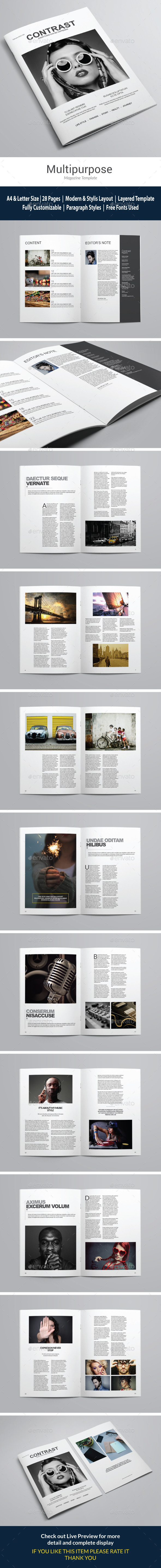 Indesign Clean Magazine vol 1 - Magazines Print Templates
