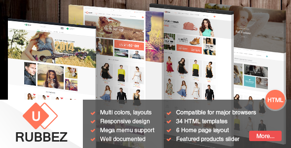 Rubbez – eCommerce, Corporate, Travel HTML5 Templa
