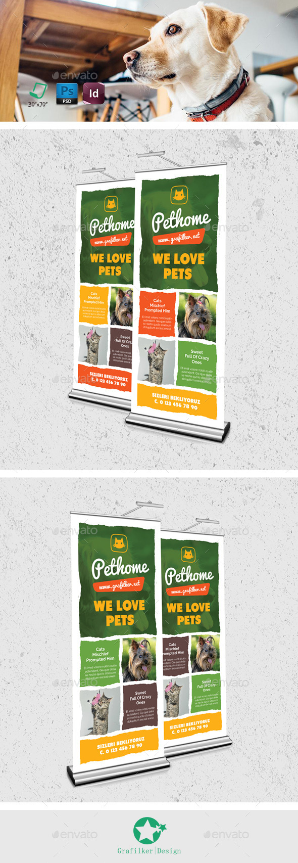 Pet Shop Roll-Up Templates
