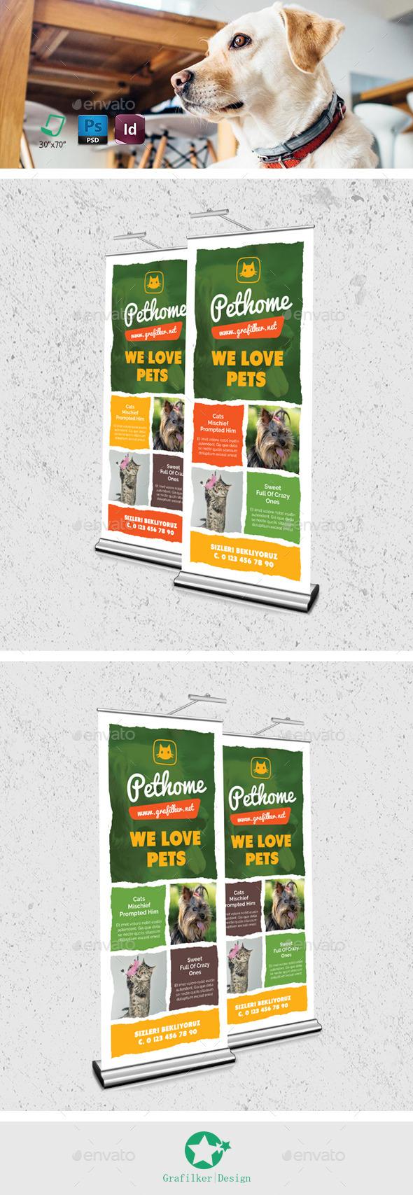 Pet Shop Roll-Up Templates - Signage Print Templates