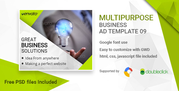 Business HTML5 Google Banner Ad 09
