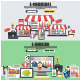 Flat Design Concepts for E-Commerce - GraphicRiver Item for Sale
