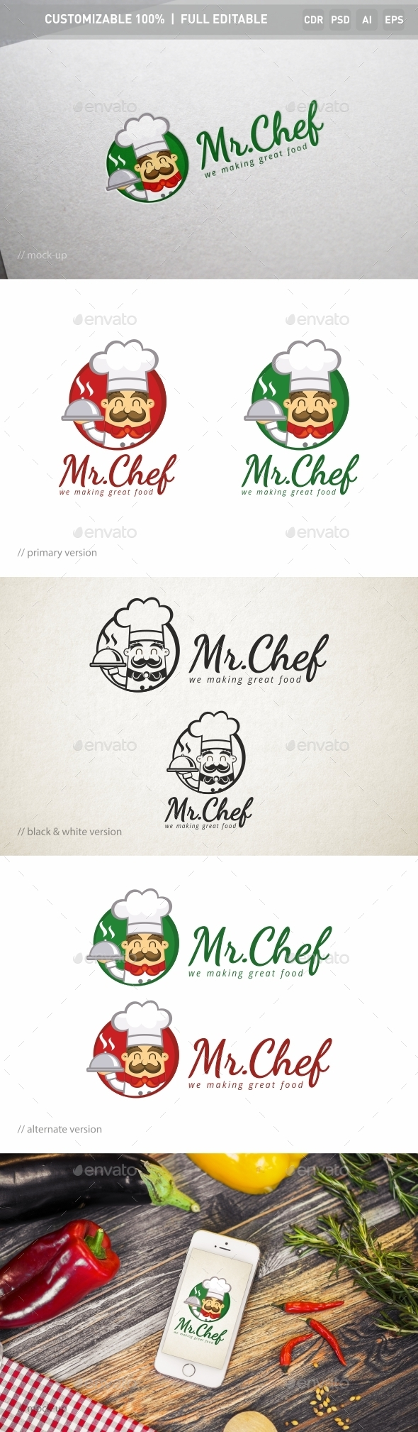 Mr.Chef Logo Template
