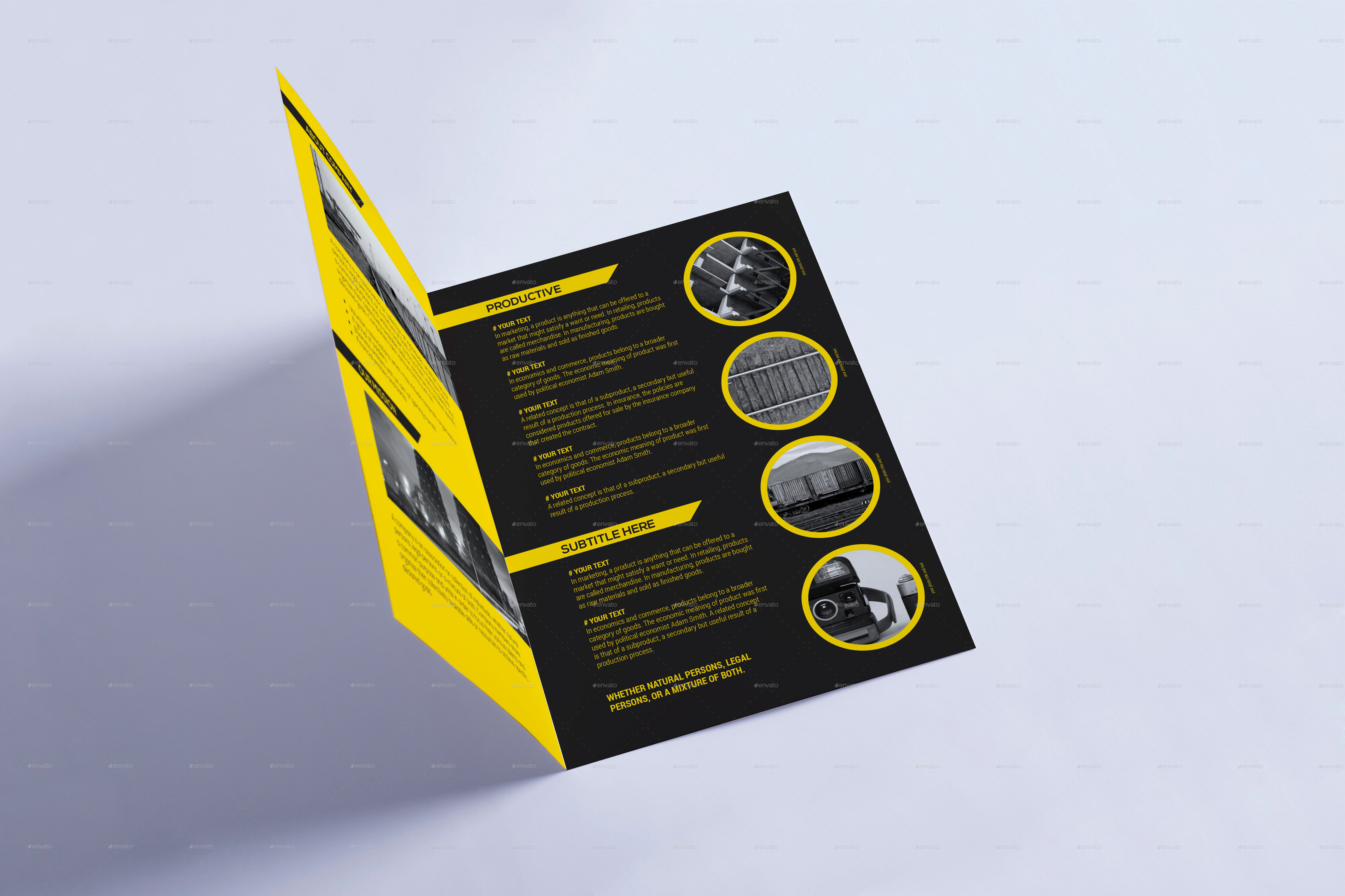 bi fold a5 brochure leaflet by xepeec graphicriver