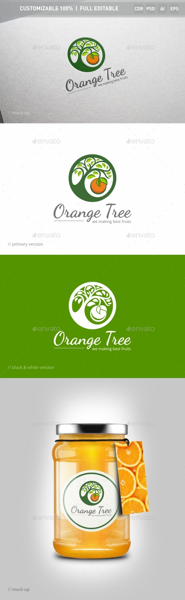 Orange Tree Logo Template
