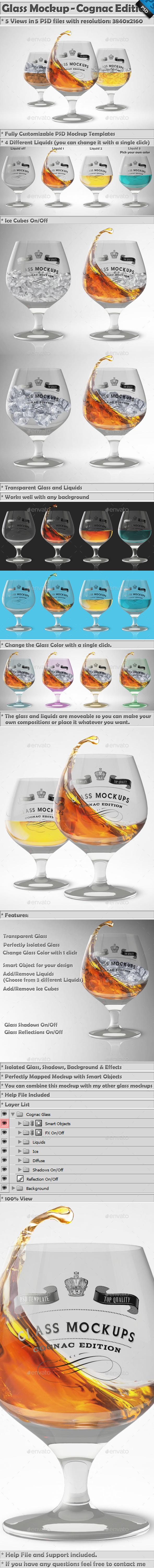 Glass Mockup - Cognac Glass Mockup Volume 2  - Miscellaneous Print