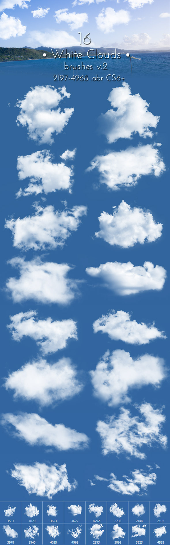 White Clouds Brushes