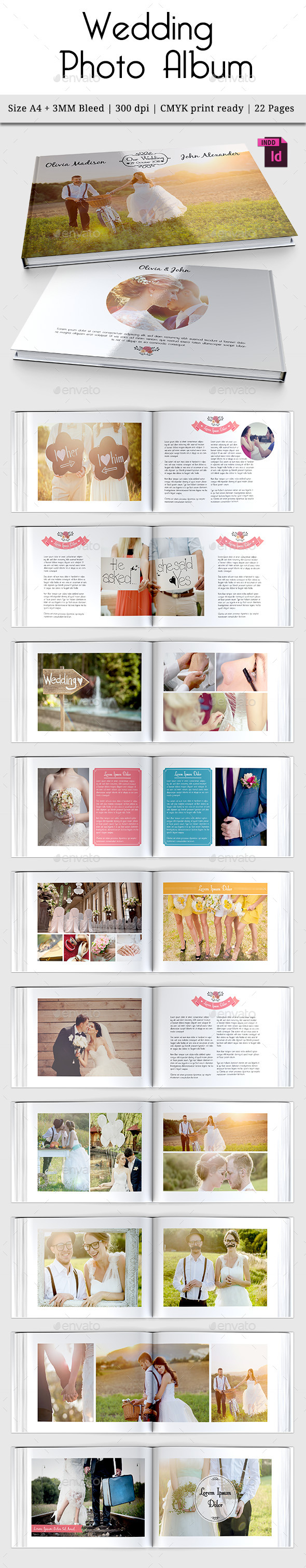 Wedding Photo Album Vol. 3 - Photo Albums Print Templates