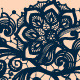 Seamless Lace Pattern with Decorative Flowers. - GraphicRiver Item for Sale