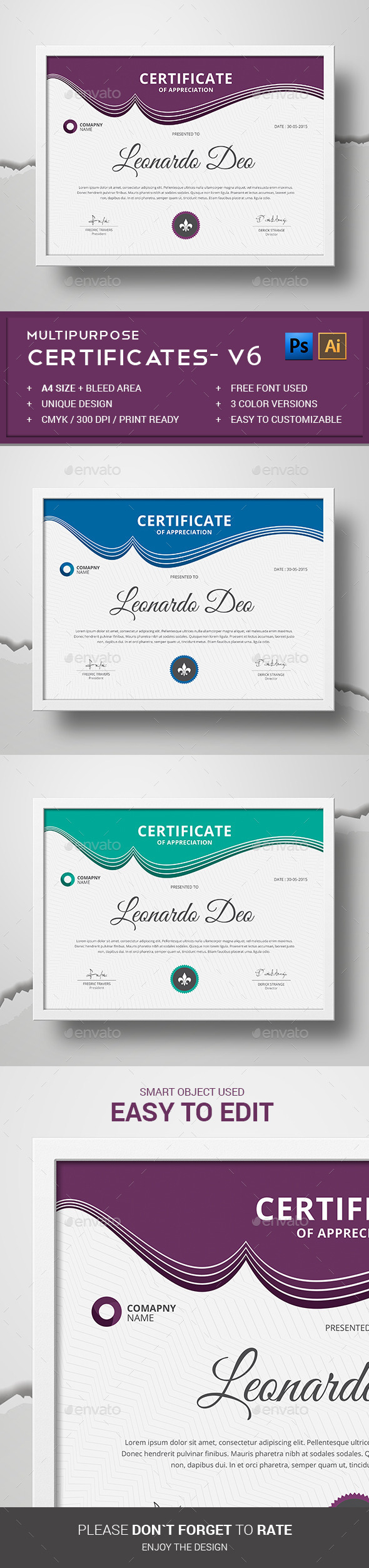 Certificate psd graphics designs templates from graphicriver yelopaper Choice Image
