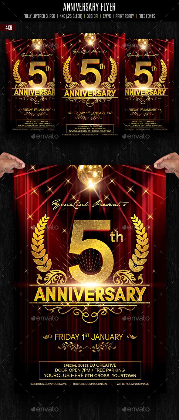 Anniversary / Event / Birthday Celebration Flyer - Events Flyers