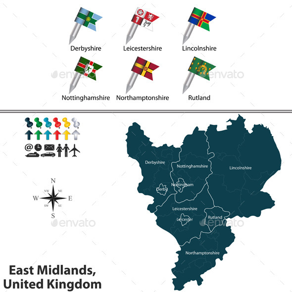 East Midlands, United Kingdom - Travel Conceptual