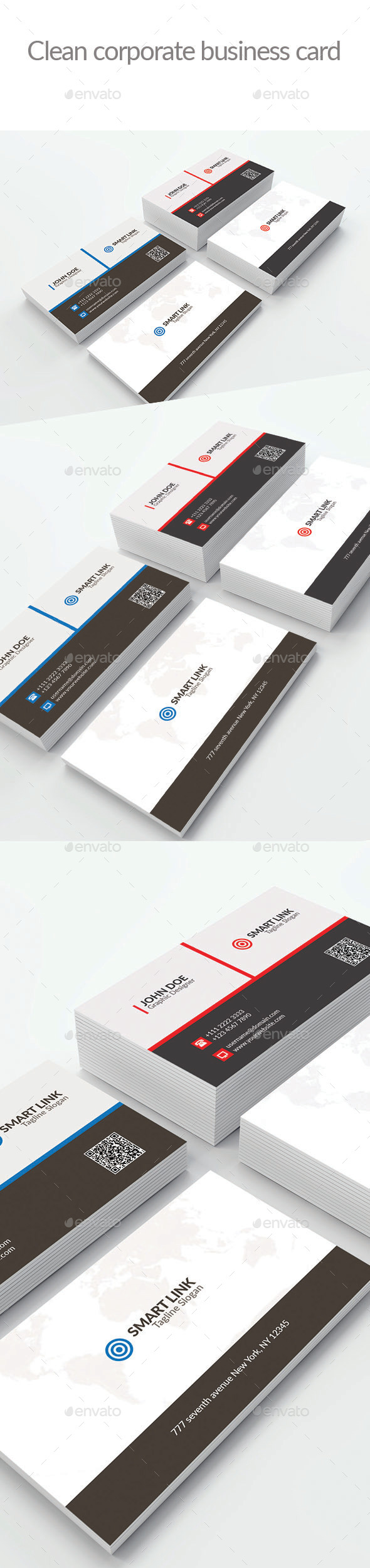 Clean Corporate Business Card-5 - Corporate Business Cards