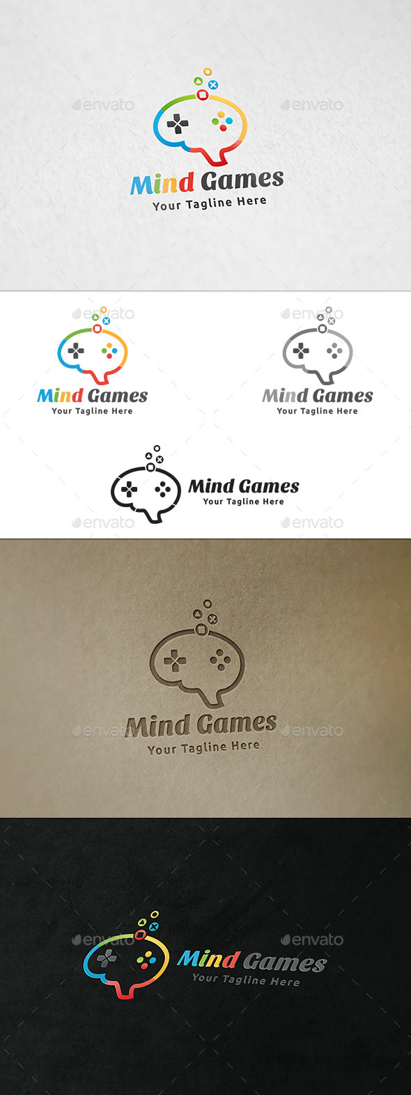Mind Games Logo - Symbols Logo Templates
