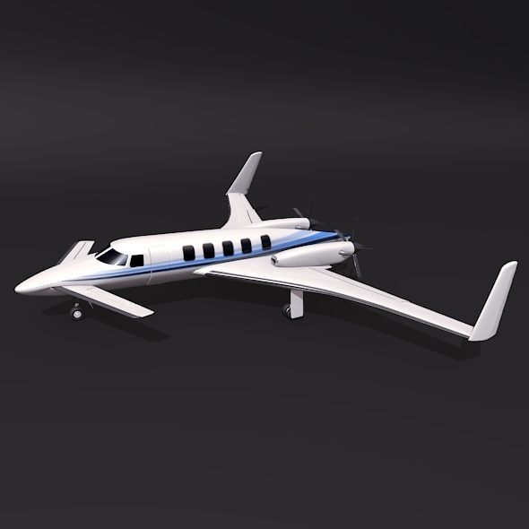 Beechcraft Starship 2000 aircraft concept - 3DOcean Item for Sale