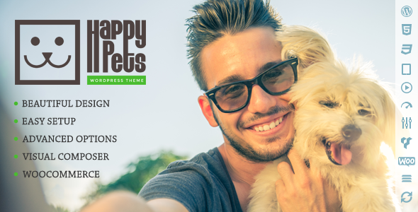 Happy Pets - A Pet Shop/Services WordPress Theme - Business Corporate