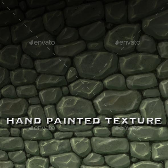 Seamless Hand Painted Rough Stone Wall Texture - 3DOcean Item for Sale