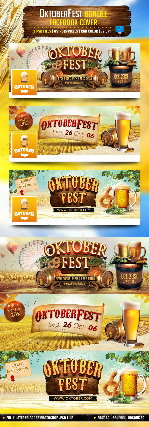 OktoberFest Bundle Facebook Cover - Facebook Timeline Covers Social Media