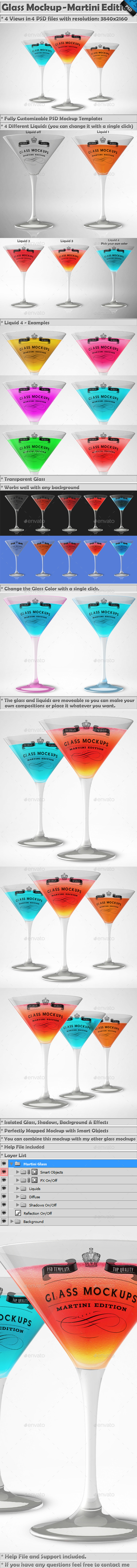 Glass Mockup - Martini Glass Mockup Volume 3   - Miscellaneous Print