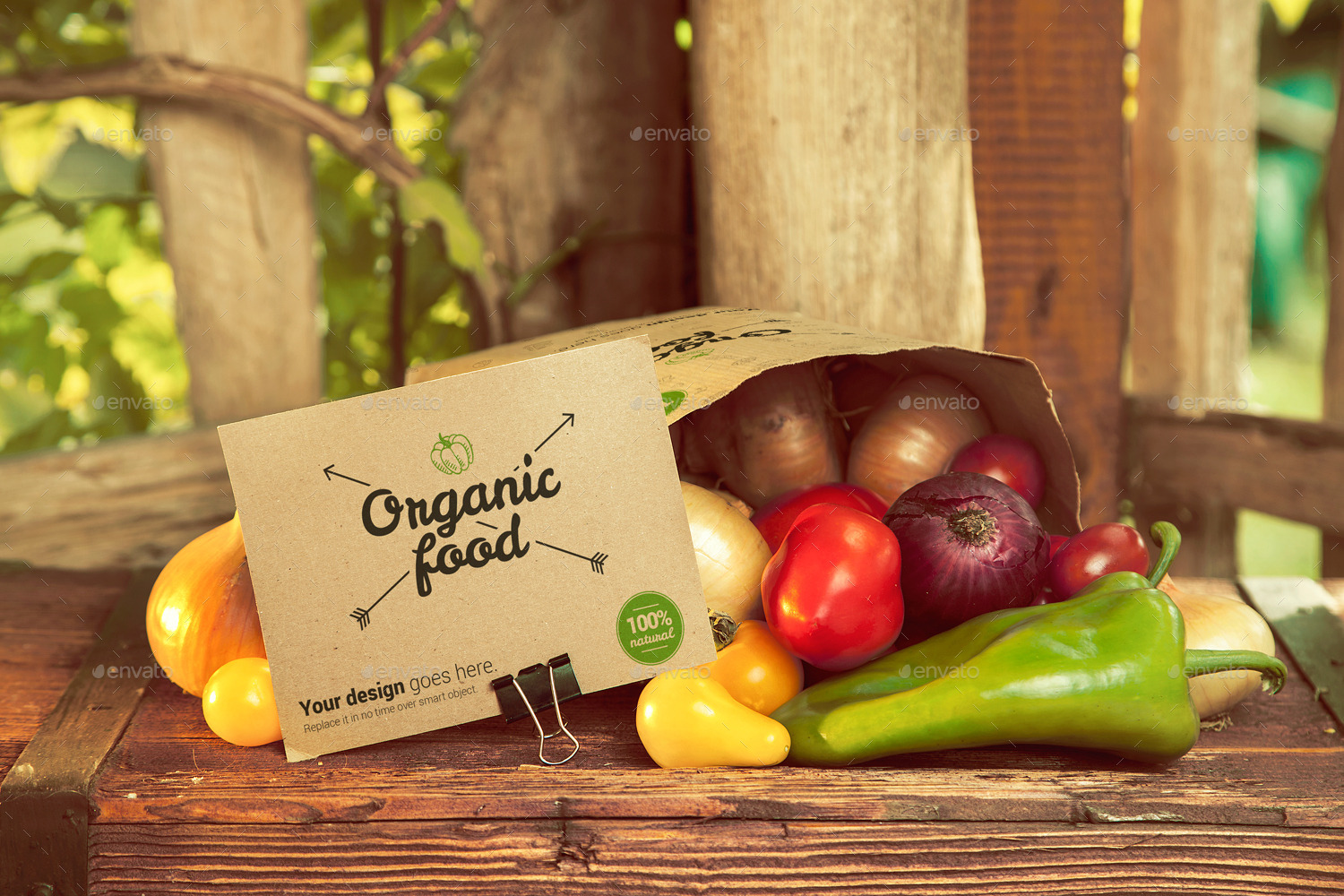 Organic Food Photo Mockup Vegetables By Creativeform