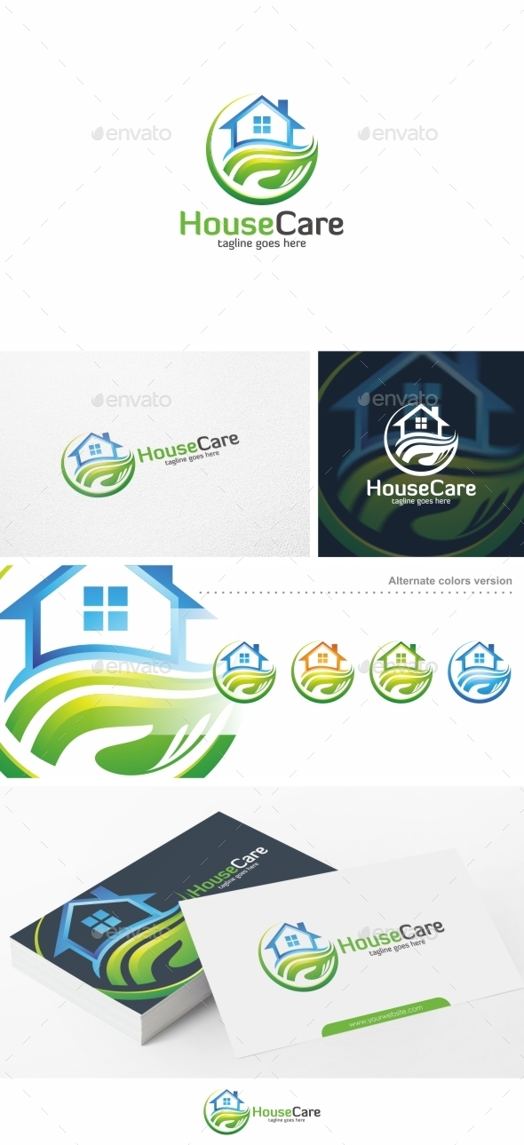 House Care Home Logo Template