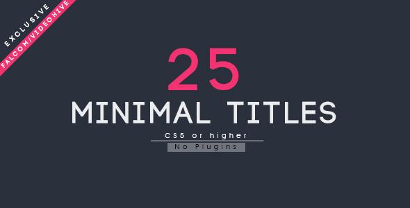 25 Minimal Titles