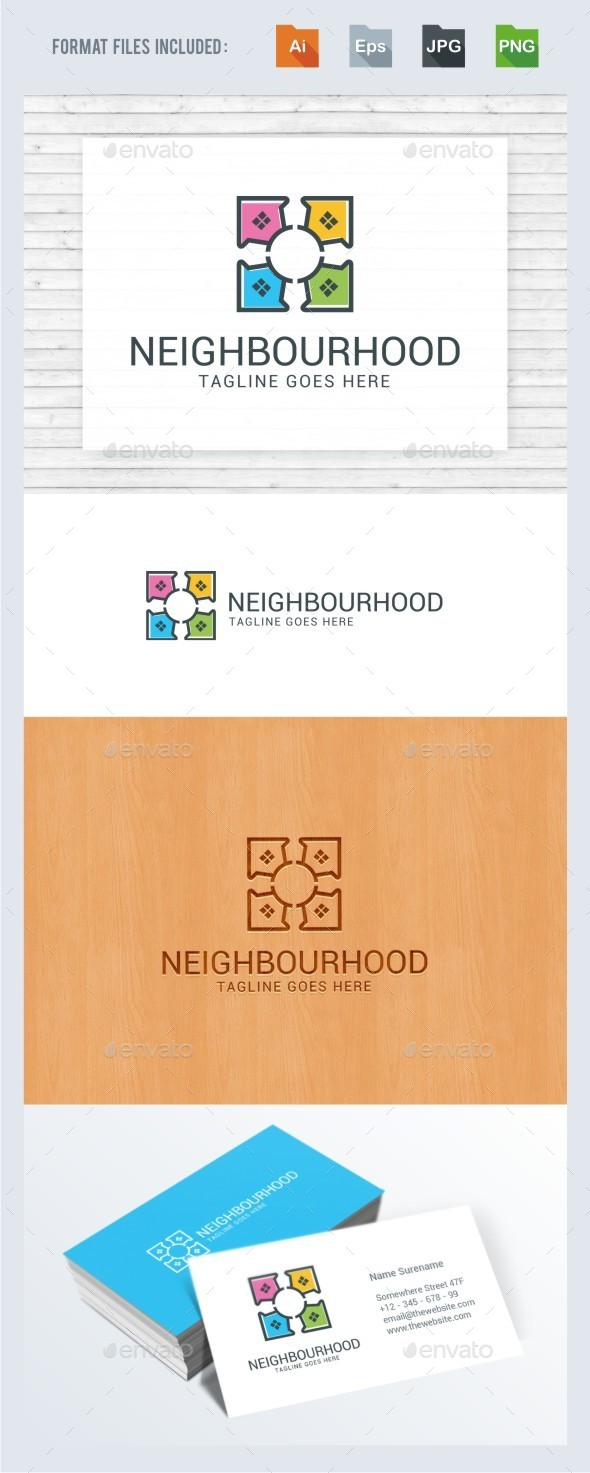 Neighborhood House Logo Template