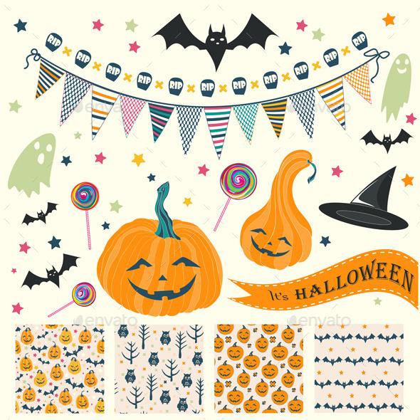 Halloween Seamless Patterns - Halloween Seasons/Holidays