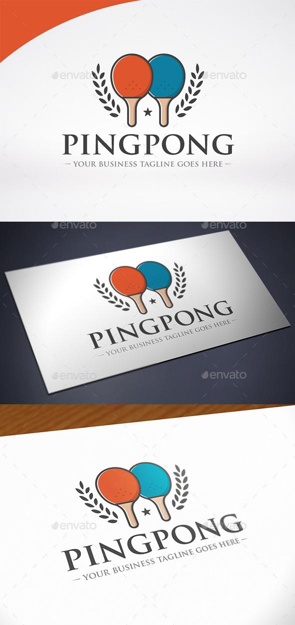 Ping Pong Logo Template