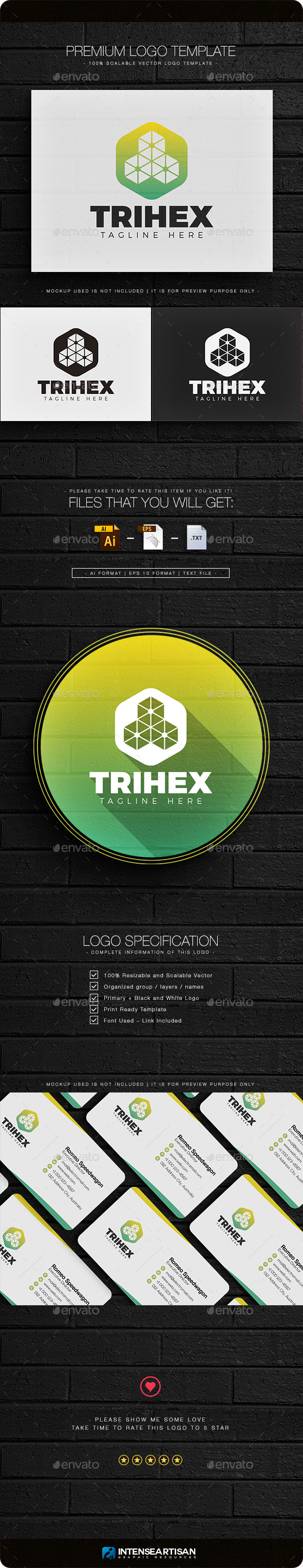 Trihex Logo - Objects Logo Templates