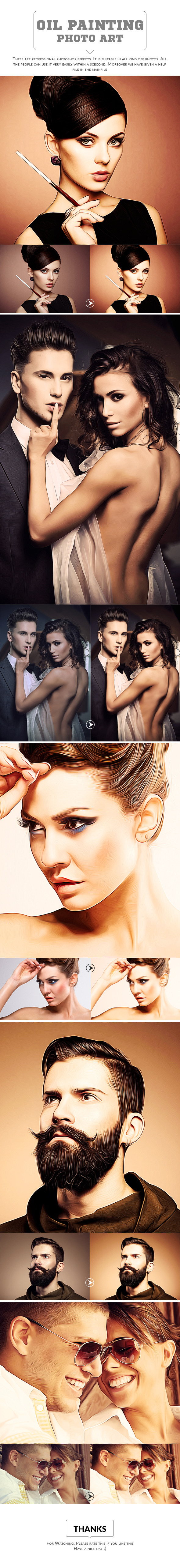 Oil Painting Art - Photo Effects Actions