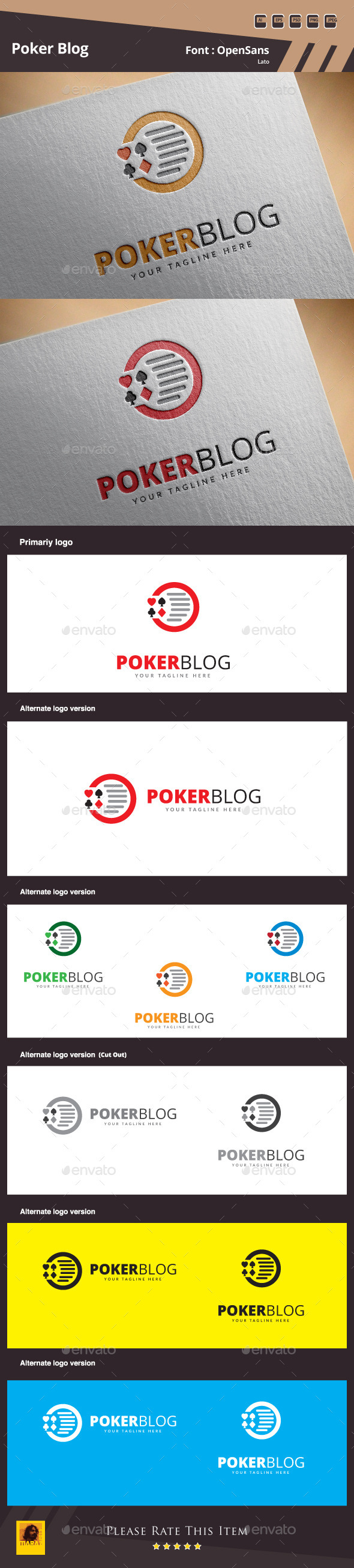 Poker Blog Logo Template - Symbols Logo Templates