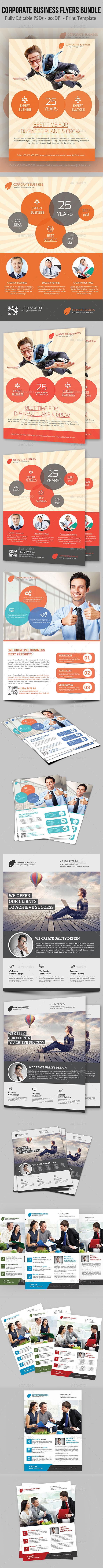 Corporate Business Flyers Bundle - Flyers Print Templates