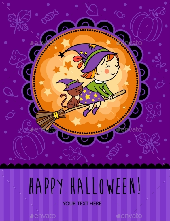 Childish Halloween Card