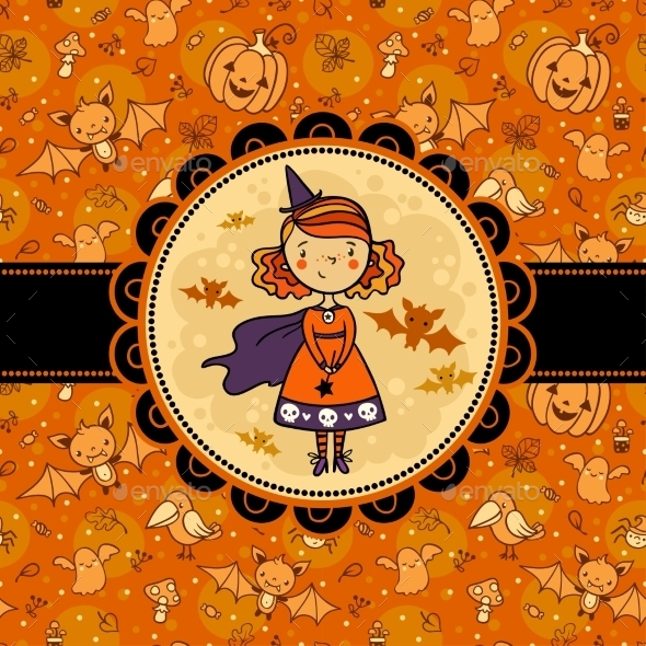 Halloween Card with Witch
