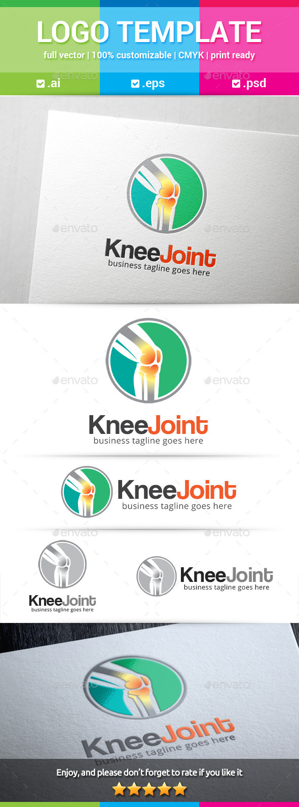 Knee Joint Logo - Humans Logo Templates