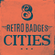 8 Retro Cities Badges - Insignias - GraphicRiver Item for Sale