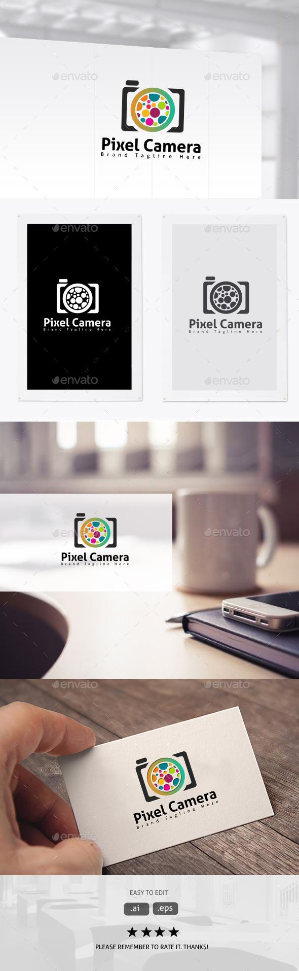 Pixel Camera - Symbols Logo Templates