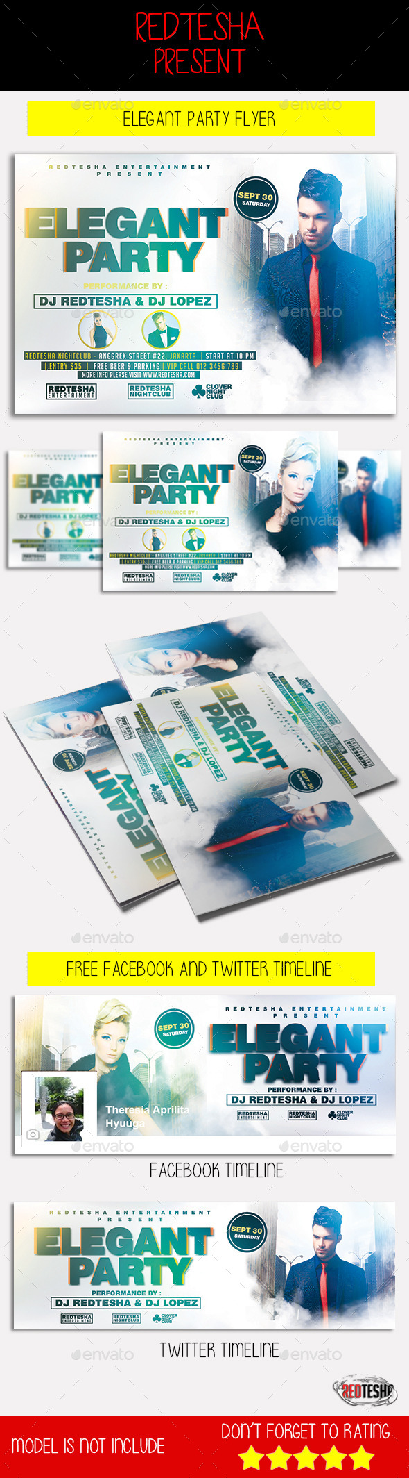 Elegant Party Flyer  - Clubs & Parties Events