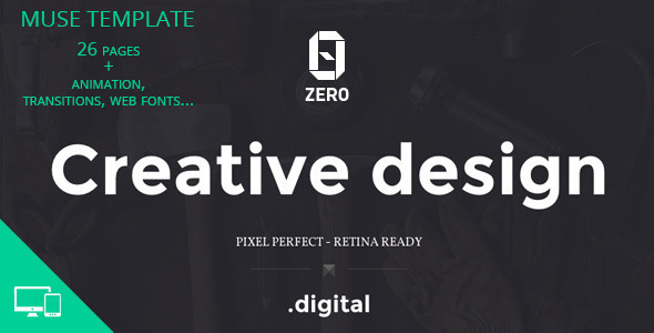 ZER0 – Creative Agency Muse Template