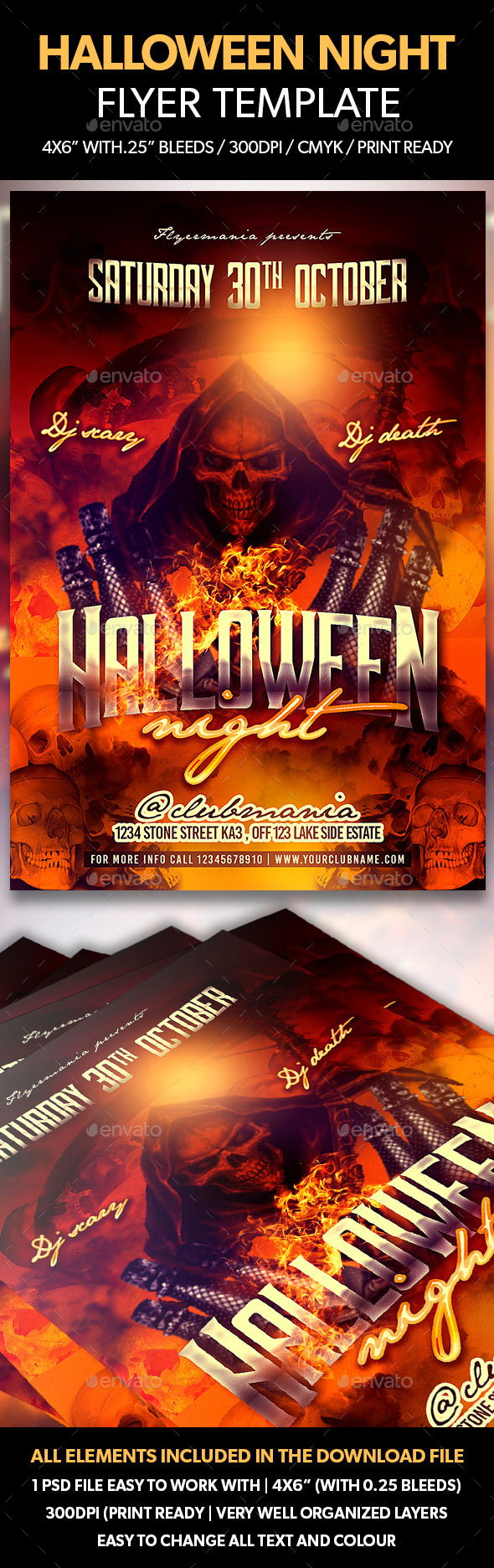 Halloween Night Flyer Template - Events Flyers