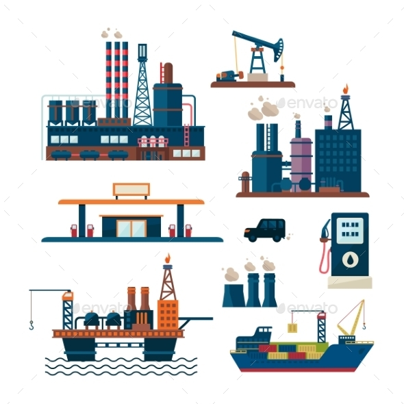 Oil Industry Business Concept of Gasoline
