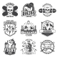 Set of Vintage Sports Emblems - GraphicRiver Item for Sale
