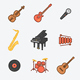 9 Musical Instruments Icons - GraphicRiver Item for Sale