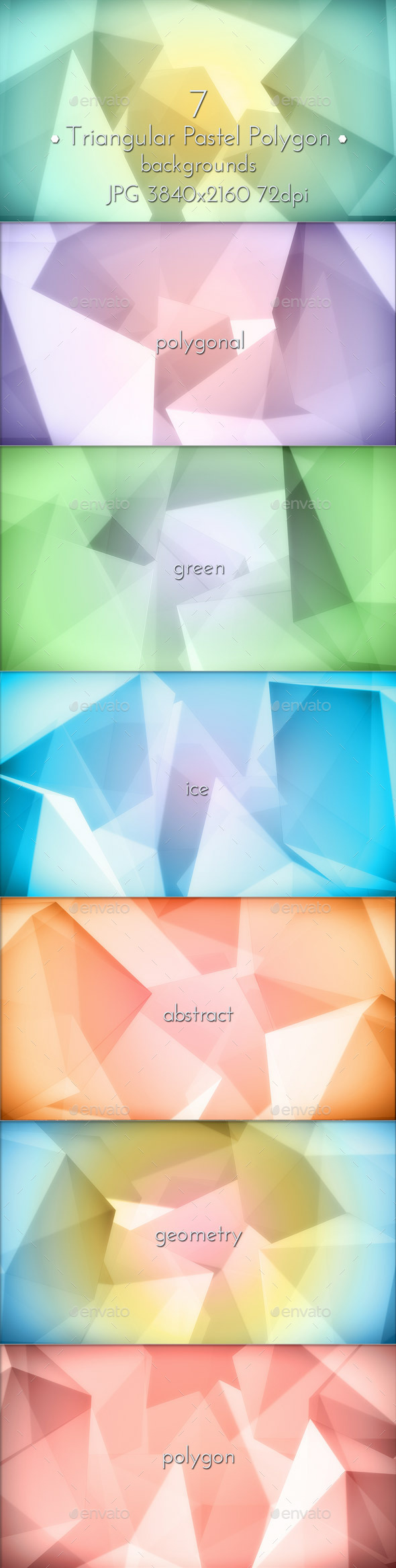 Pastel Polygon Background - Abstract Backgrounds